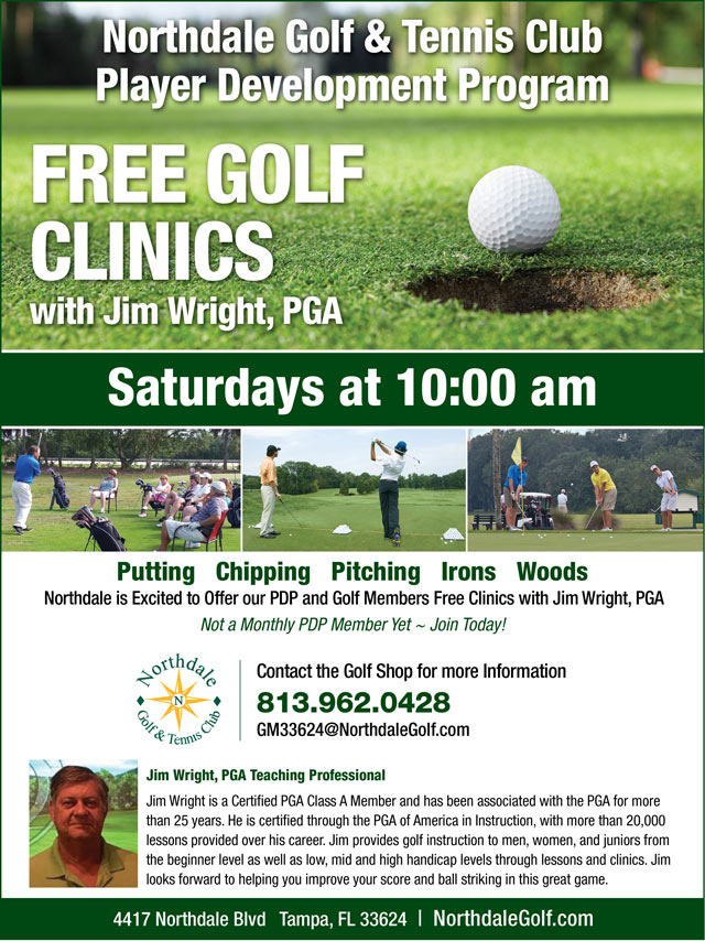 Player Development Free Clinics Promotional Flyer